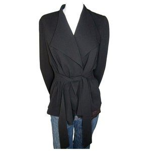 Club Monaco Black Belted Jacket Size Large